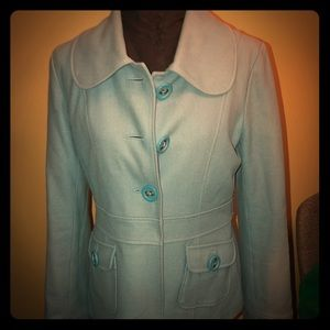 Tulle Blue Pea Coat Size Large